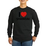 I Love Shangai Long Sleeve Dark T-Shirt