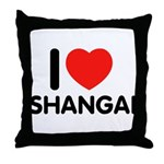 I Love Shangai Throw Pillow