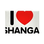 I Love Shangai Rectangle Magnet (10 pack)