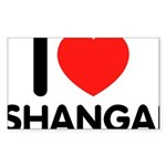 I Love Shangai Rectangle Sticker