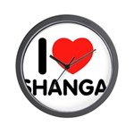 I Love Shangai Wall Clock