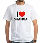 I Love Shangai White T-Shirt