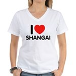I Love Shangai Women's V-Neck T-Shirt