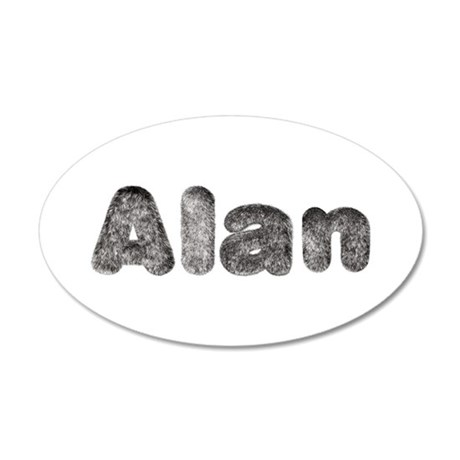 Alan Wolf 35x21 Oval Wall Decal