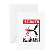 Propeller Stay Clear - Holland Greeting Cards (Pk