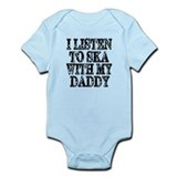 Ska With Daddy  Baby Onesie