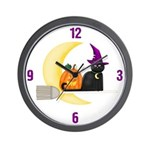 Witch on Broomstick Wall Clock
