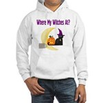 Witch on Broomstick Hooded Sweatshirt