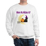 Witch on Broomstick Sweatshirt