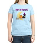 Witch on Broomstick Women's Light T-Shirt