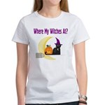 Witch on Broomstick Women's T-Shirt