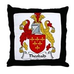 Theobald Family Crest Throw Pillow
