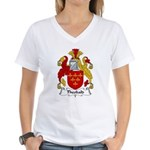 Theobald Family Crest  Women's V-Neck T-Shirt
