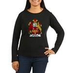 Thaker Family Crest  Women's Long Sleeve Dark T-Sh