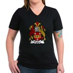 Thaker Family Crest Women's V-Neck Dark T-Shirt