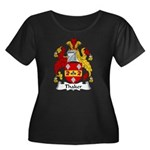 Thaker Family Crest Women's Plus Size Scoop Neck