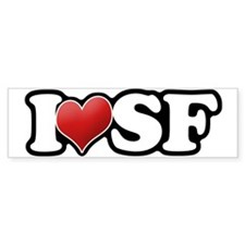 Classic I Heart SF Bumper Bumper Sticker