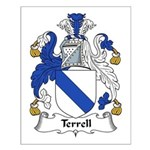 Terrell Family Crest Small Poster