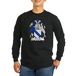 Terrell Family Crest Long Sleeve Dark T-Shirt