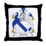 Terrell Family Crest Throw Pillow