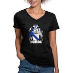 Terrell Family Crest Women's V-Neck Dark T-Shirt