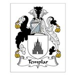 Templar Family Crest Small Poster