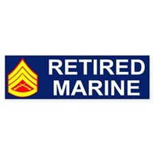 USMC Retired <BR>Staff Sergeant Bumpersticker