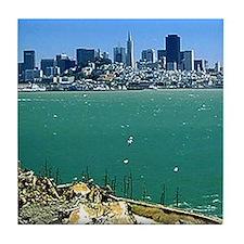 San Francisco from Alcatraz Tile Coaster