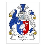 Sylby Family Crest Small Poster