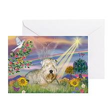 Cloud Angel & Wheaten Terrier Greeting Card