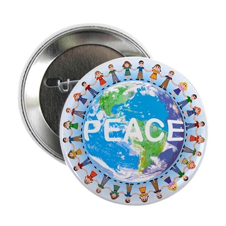 World Peace Buttons Badges ( Bulk 10 pack)