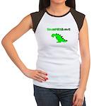 GRUMPASAURUS Women's Cap Sleeve T-Shirt