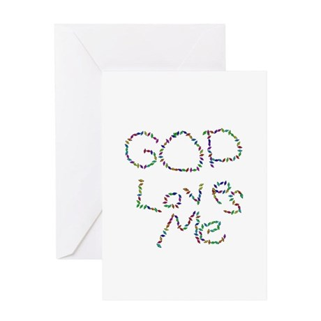 God Loves Me Greeting Card