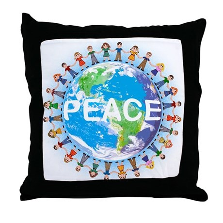 World Peace Throw Pillow