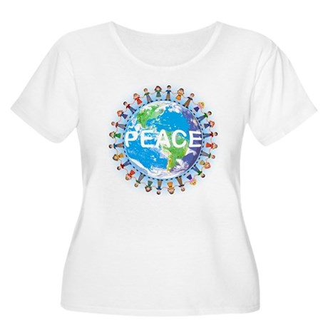 World Peace Women's Plus Size Scoop Neck T-Shirt