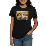 Angels with Yorkie Women's Dark T-Shirt