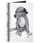 Merle Great Dane puppy in dots Notepad