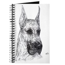 Cropped Fawn Great Dane in dots Notepad