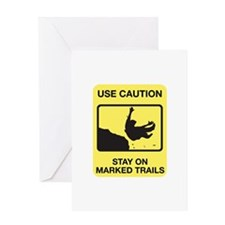 Stay on Marked Trails - USA Greeting Card