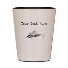 Distressed Sail Fish Silhouette (Custom) Shot Glas