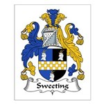 Sweeting Family Crest Small Poster