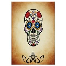 Sugar skull with Brown Background.