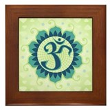 Lotus Aum Green - Framed Tile