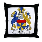 Sturdy Family Crest Throw Pillow