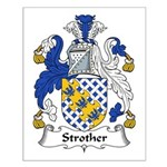 Strother Family Crest Small Poster