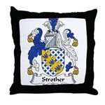 Strother Family Crest Throw Pillow