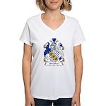 Strother Family Crest Women's V-Neck T-Shirt