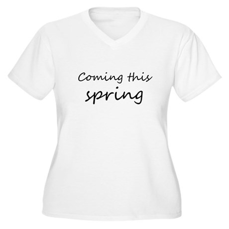 coming this spring Women's Plus Size V-Neck T-Shir