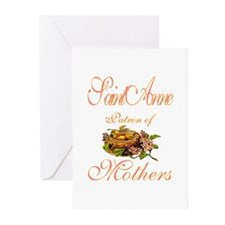 St. Anne - Patron of Mothers Greeting Cards (Pk of