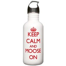 Keep Calm and Moose ON Water Bottle